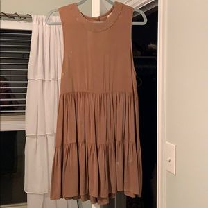 Altar'd State brown dress with distressed wash